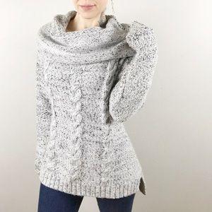 Market & Spruce Betti Shawl cowl neck sweater